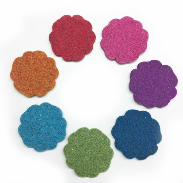 Large Wool Felt Flower 5cm Fuschia