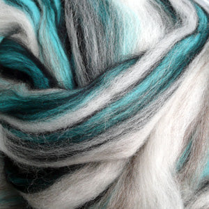 Glacial Tweed blended wool tops for felting