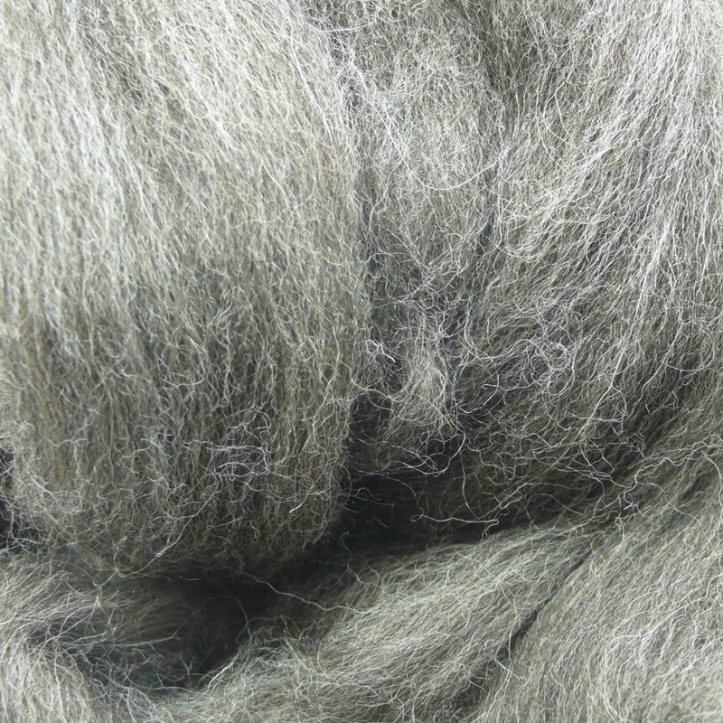 Grey Jacob wool tops for felting