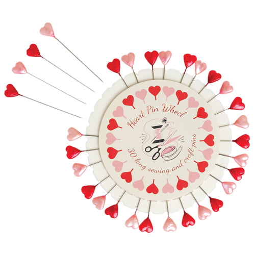 Heart Sewing Long Pins Pinwheel
