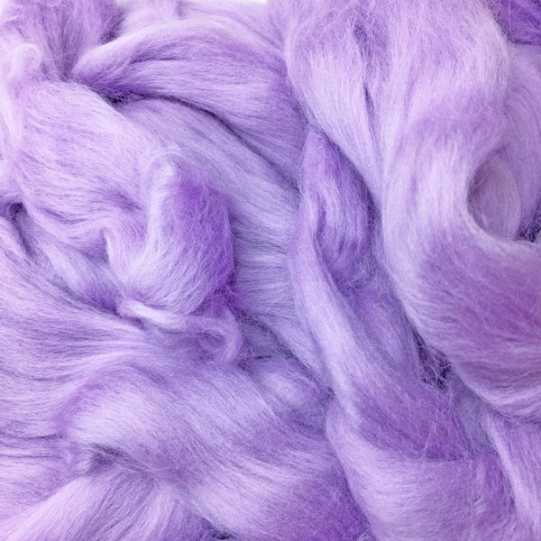 Lilac Merino wool tops for felting & giant knitting
