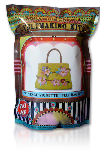 Vintage Vignette Bag Wet Felting Kit