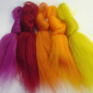 Nicey Spicey merino wool tops inspiration pack for felting