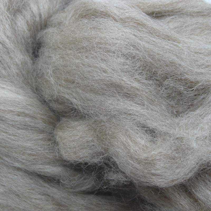 Oatmeal BFL wool tops for felting