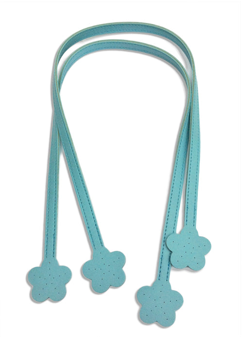 Blue Handbag Handles with Flower Ends 60cm