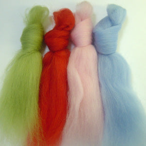 Retro Metro merino wool tops inspiration pack for felting