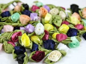 Ribbon Roses (all different colours)