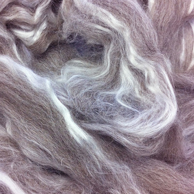 Shetland Wool/Tussah Silk Blended Wool Tops