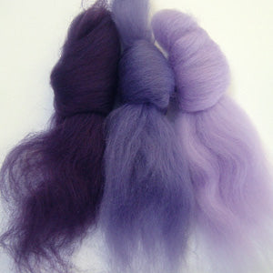 Shrinking Violets merino wool tops inspiration pack for felting