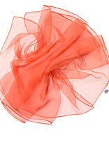 Silk Chiffon Scarf for nuno felting Orange