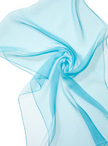 Silk Chiffon Scarf for nuno felting Turquoise