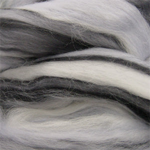 Silver Zebra blended wool tops for felting