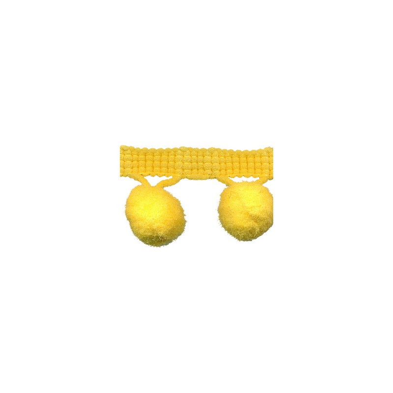 Yellow Pompom Trim 25mm inc trim 81