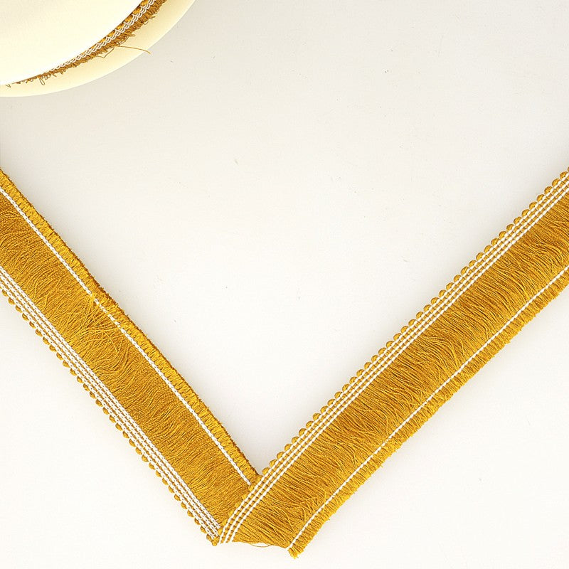 Simple Fringe Trimming 25mm : Gold