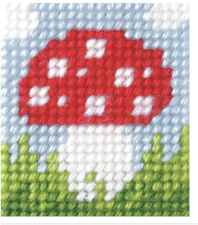 Kids Embroidery Kit - Toadstool