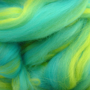 Turquoise Treasure blended wool tops for felting