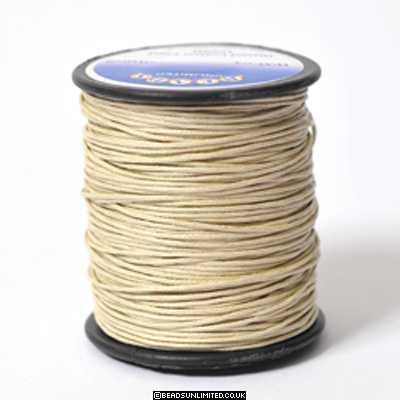 Waxed Cord 1mm Natural