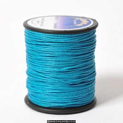 Waxed Cord 1mm Turquoise