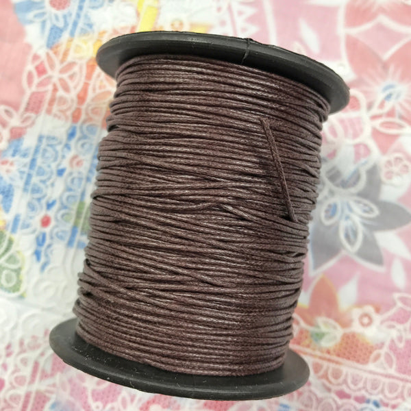 Waxed Cotton 1mm 056 Brown  per metre