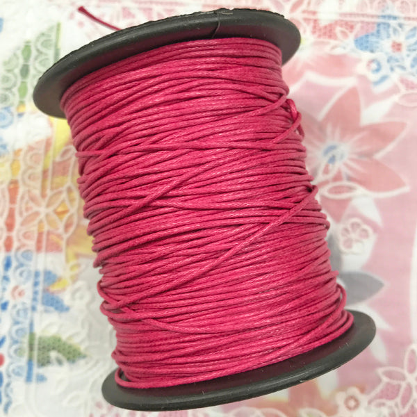 Waxed Cotton 1mm 073 Cerise  per metre