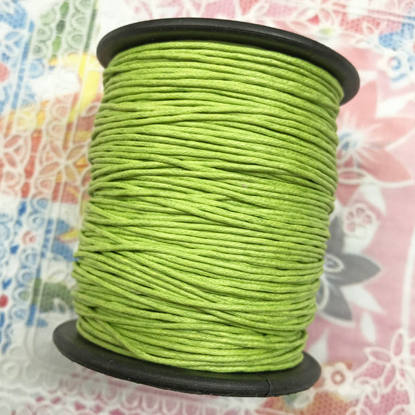 Waxed Cotton 1mm 016 Lime per metre