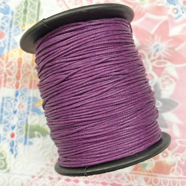 Waxed Cotton 1mm 090 Purple  per metre