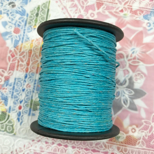 Waxed Cotton 1mm 004 Turquoise  per metre