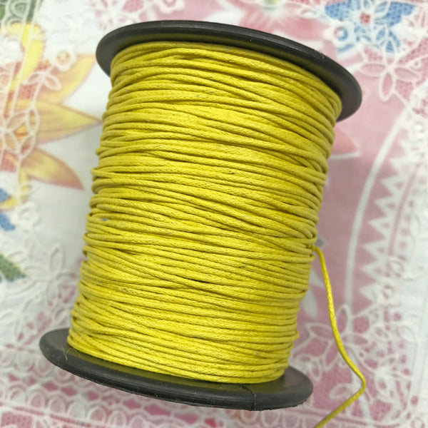 Waxed Cotton 1mm 052 Yellow  per metre