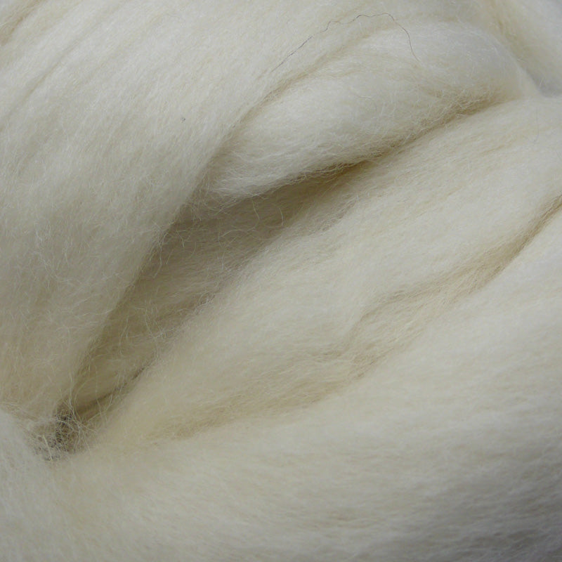 White Shetland Wool Tops for Felting, Spinning & Giant Knitting