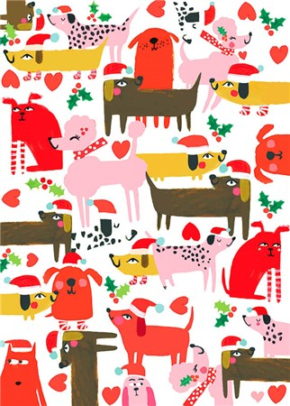 Christmas Cute Canine Wrapping Paper