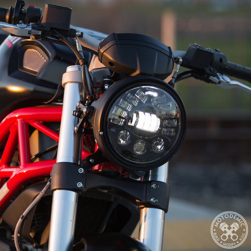 MOTODEMIC 7 INCH ADAPTIVE 2 L.E.D. HEADLIGHT