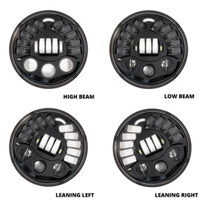 MOTODEMIC 7 INCH LOW PROFILE L.E.D. HEADLIGHT