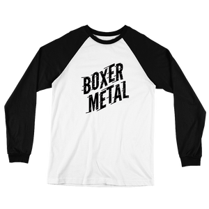 LONG SLEEVE BOXER METAL TEXT-T!