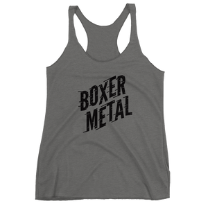 BOXER METAL TEXT-T WOMEN'S RACERBACK TANK