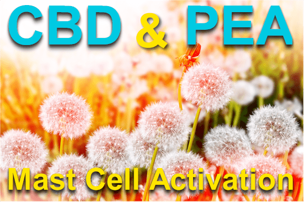 CBD and PEA for mast cell activation and histamines
