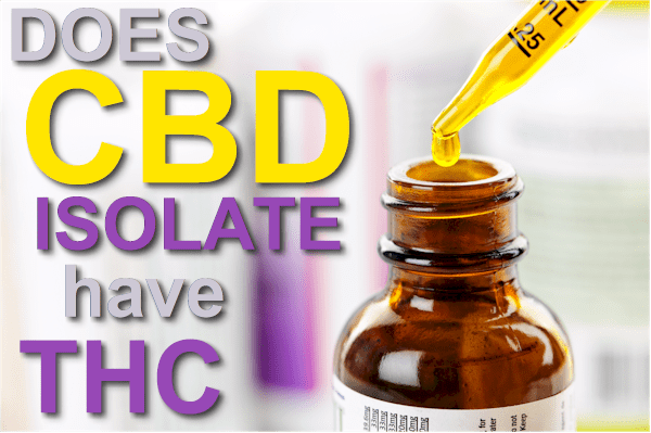 does CBD isolate have thc