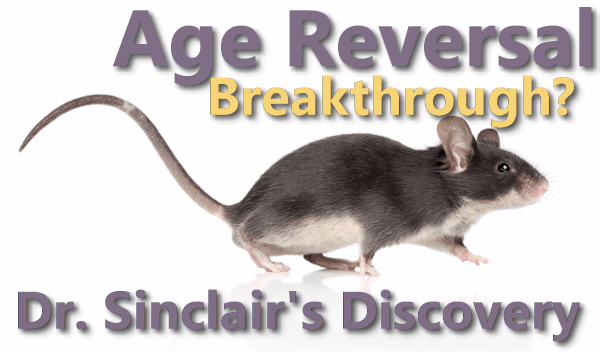 Dr David Sinclair age reversal discovery Yamanaka Factors