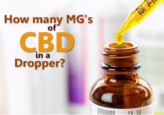 How many mgs of CBD in a dropper