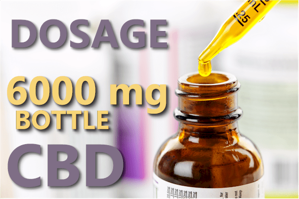 how much CBD to take with a 6000 mg bottle
