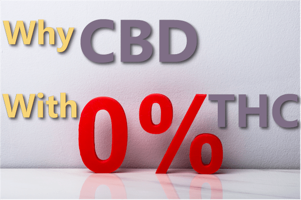 why zero thc CBD products are so important