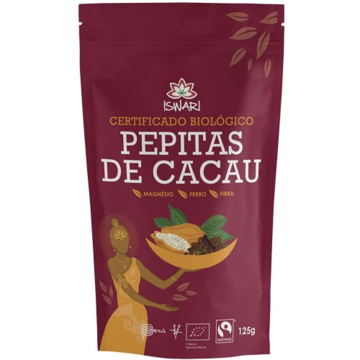 Pepitas de cacau cru biológicas Fairtrade
