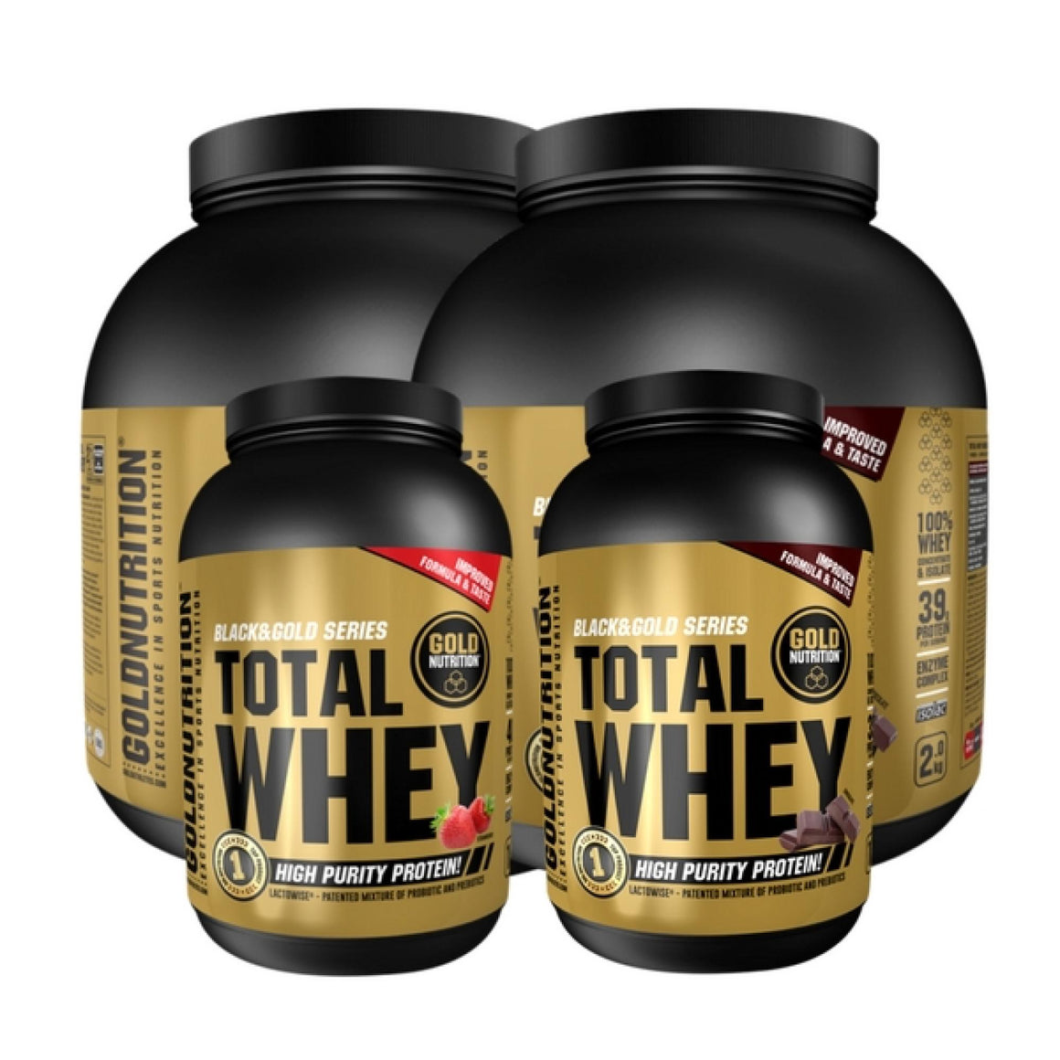 Proteína Total Whey Black&Gold Series