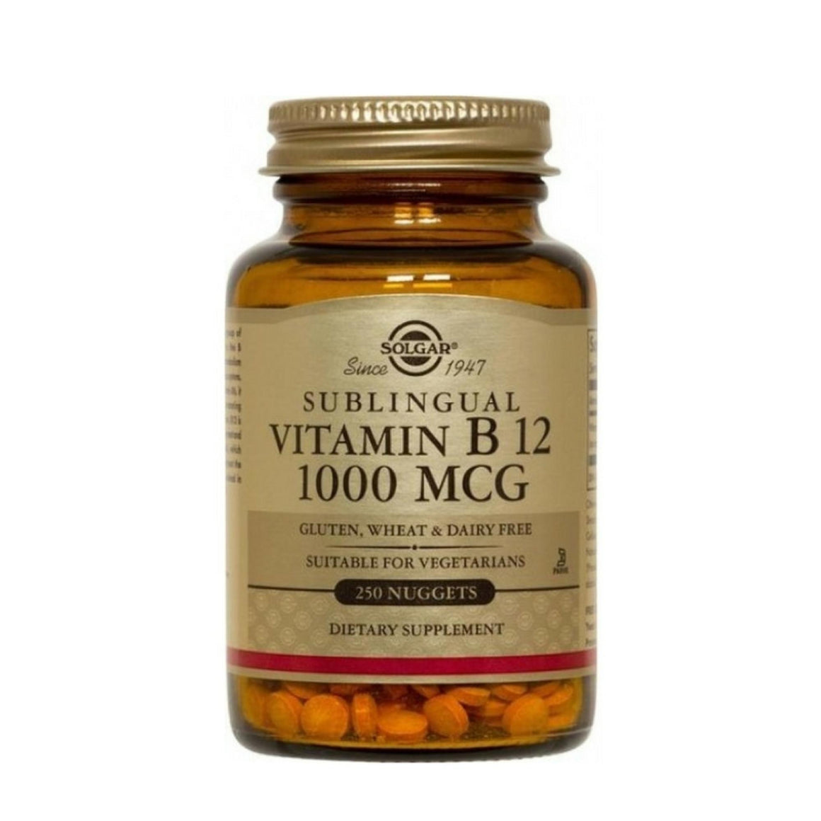 Vitamina B12 sublingual 1000µg