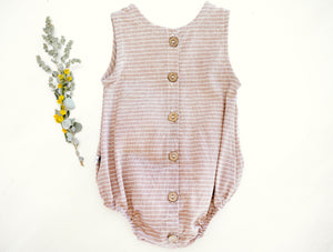 'Oak' Striped Romper