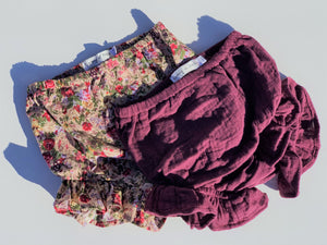 'Willow' Frill Bloomers - Plum