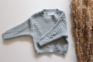 'Quinn' Knit - Blue Dust
