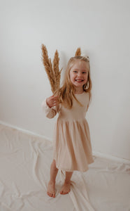 'Sierra' Ribbed Dress - Wheat