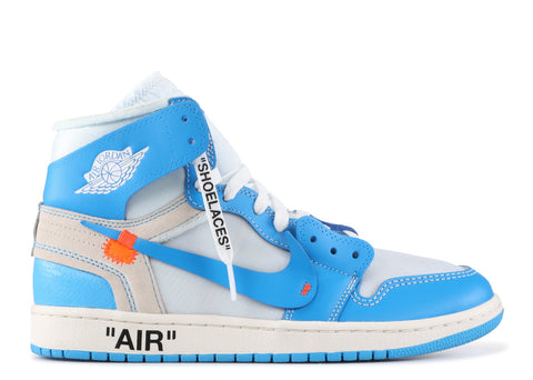 Authentic Nike Air Jordan 1 Retro Powder Blue AQ0818-148 Off-White UNC