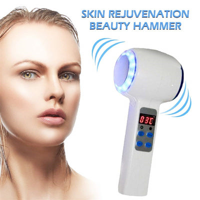 Face Care Device Hot Cold Hammer Cryotherapy Blue Photon Acne Massager Lifting