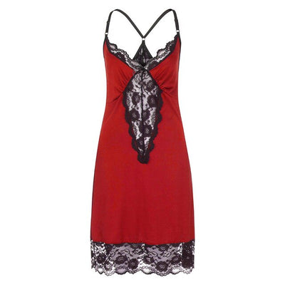 Sleepwear Plus Size Night Dress Sexy V-Neck
